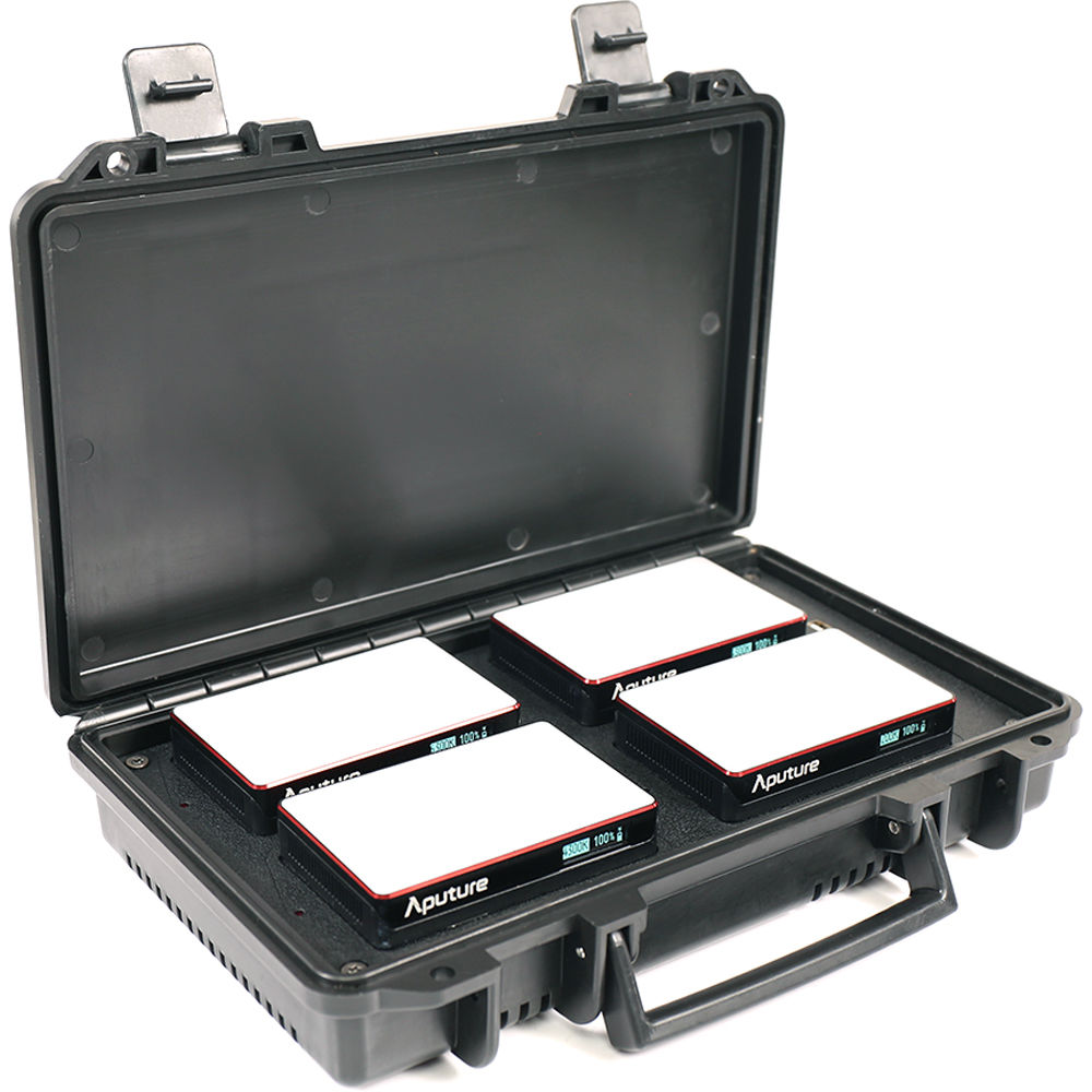 Aputure MC 4-Light Travel Kit with Charging Case