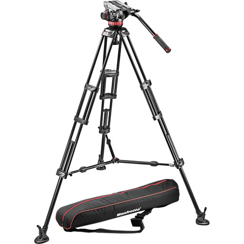 Manfrotto Mvh502A Head, 546B Tripod With Carrying Bag