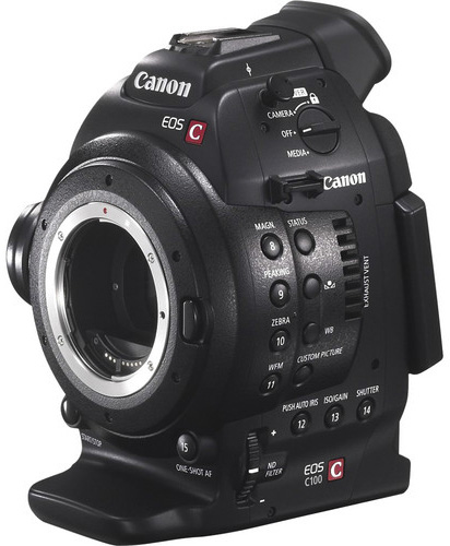 Canon EOS C100 with Dual Pixel CMOS AF Upgrade (EF Mount)