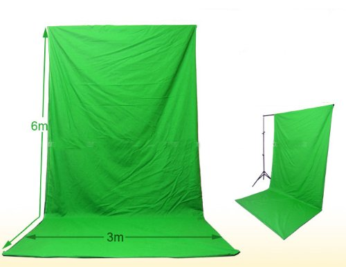 10 X 24 Feet Seamless Chroma Key Green Muslin Backdrop