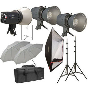 Impact Three Monolight Portrait Backlight Kit with Case (120VAC)