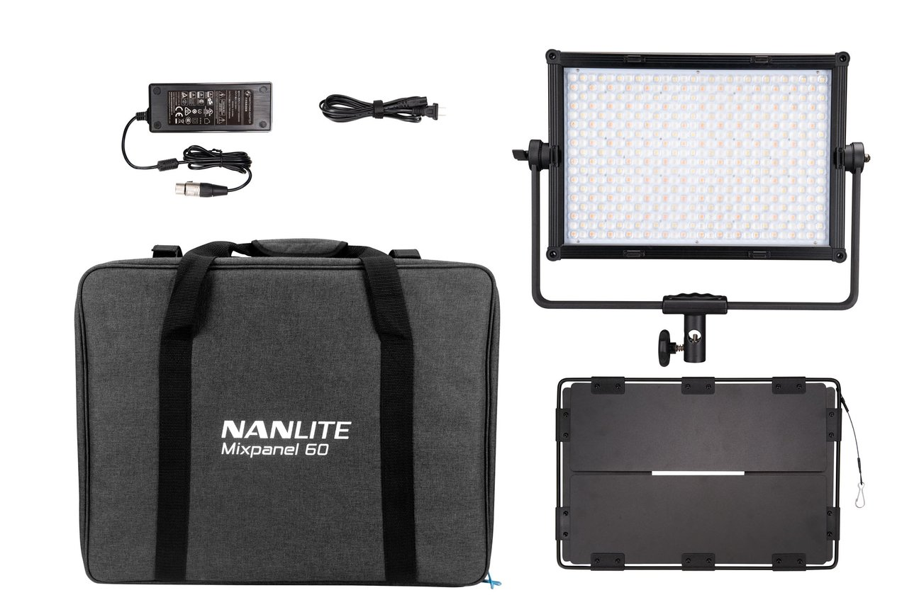 NanLite MixPanel 60 Bicolor Hard and Soft CCT and RGBWW 2 Light Kit