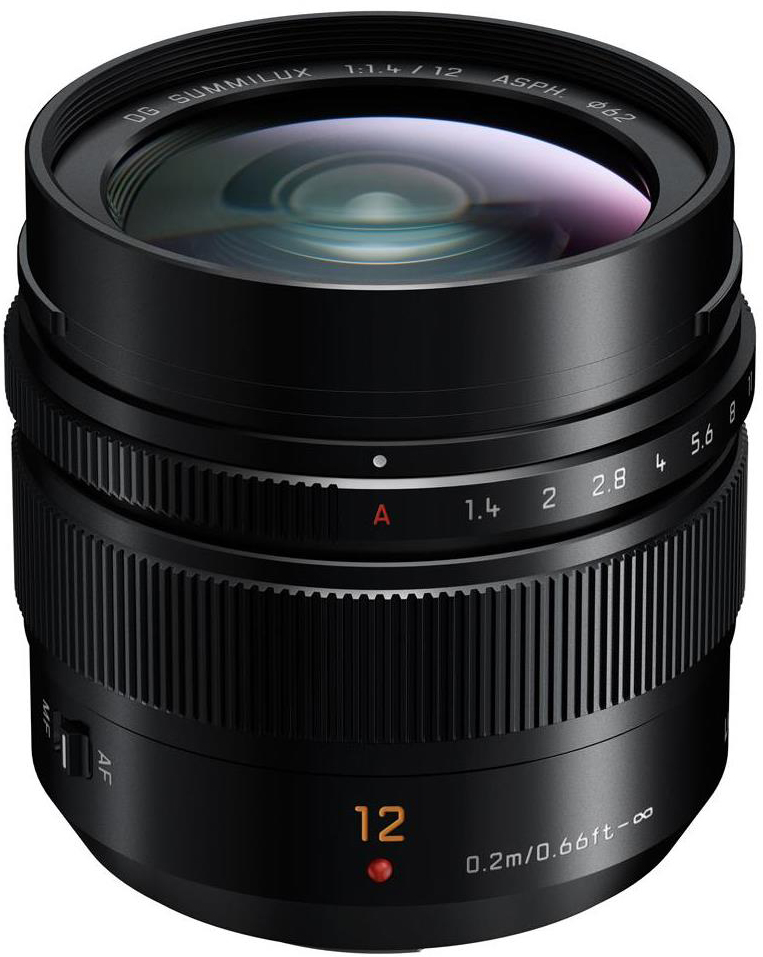 Panasonic Lumix G Leica DG Summilux 12mm f/1.4 ASPH Lens for Micro Four Thirds