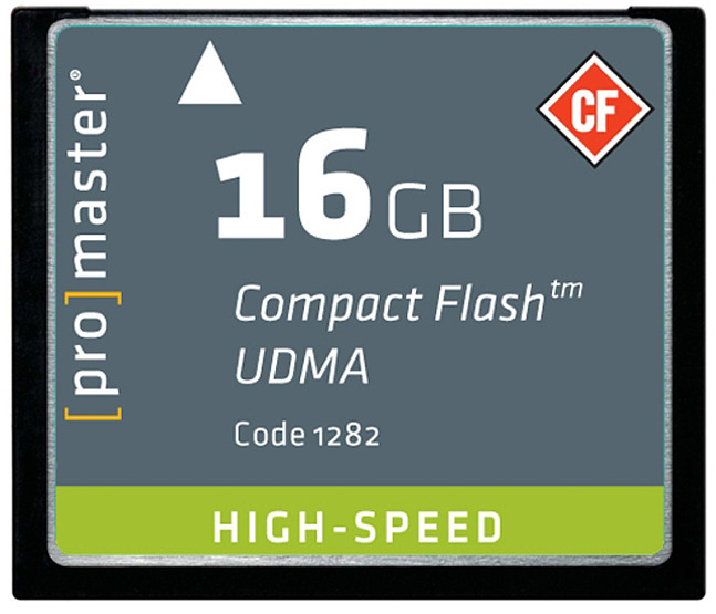 Promaster 16GB UDMA High Speed CF card
