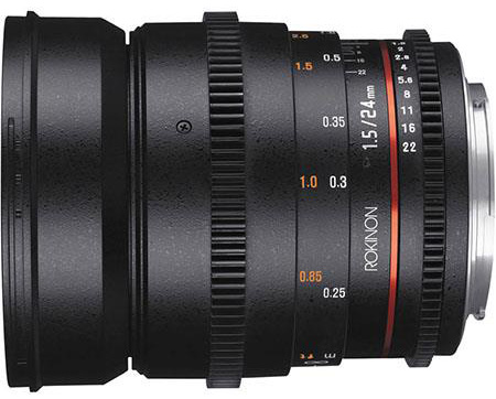 Rokinon 24mm T1.5 Cine DS Wide Angle Lens for Sony E-Mount
