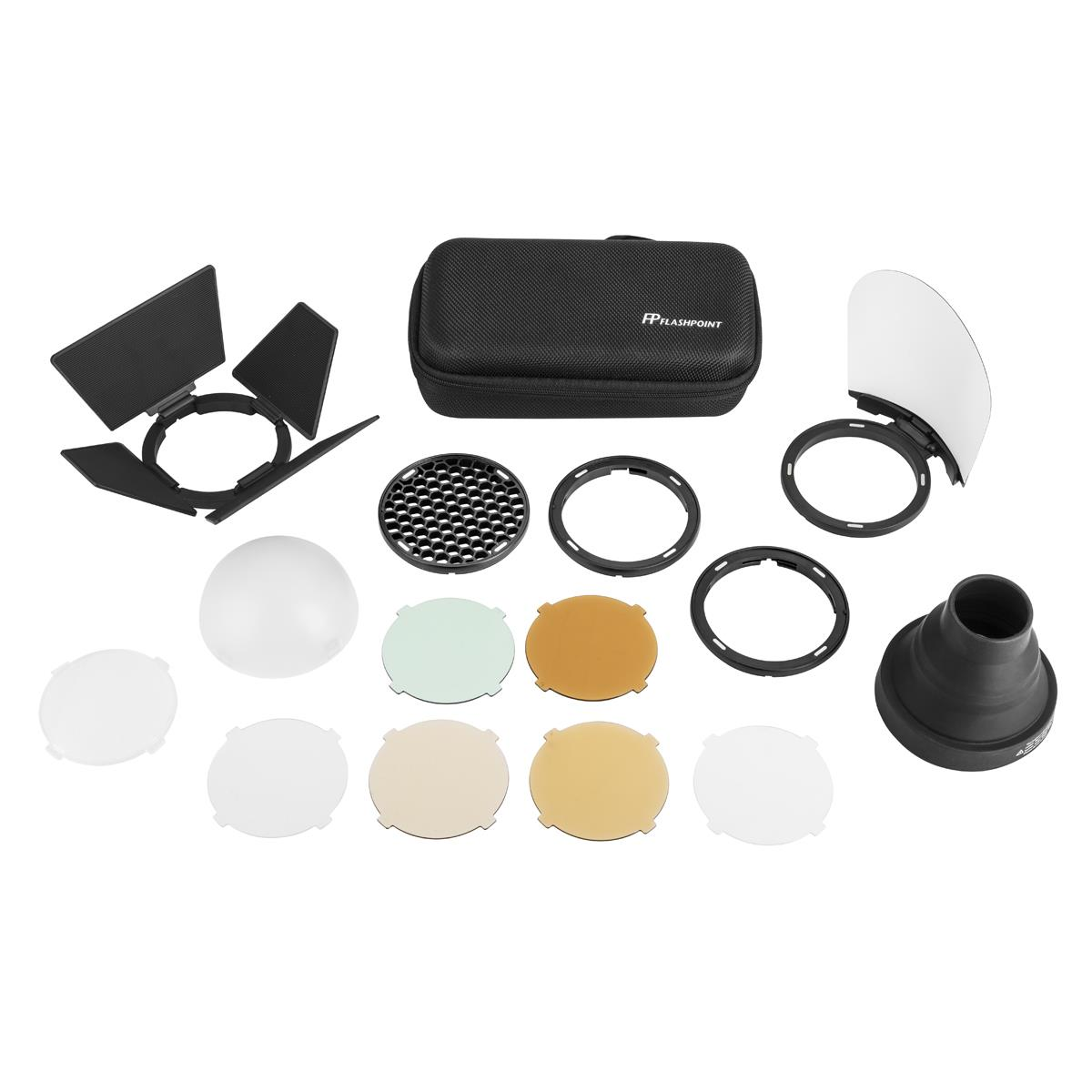Flashpoint S-R1 Round Head Magnetic Modifier Adapter With AK-R1 Accessory Kit