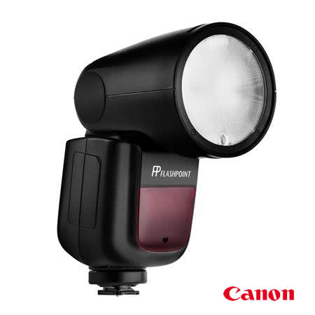Flashpoint Zoom Li-on X R2 TTL On-Camera Round Flash Speedlight For Canon (Godox V1)