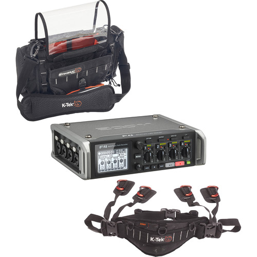 Zoom F4 Multitrack Field Recorder Kit with K-Tek Stingray Bag